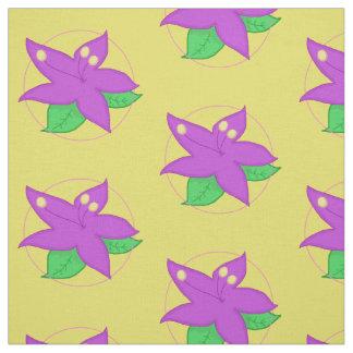 TELA púrpura de la flor