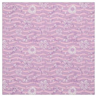 Tela púrpura del estampado de flores
