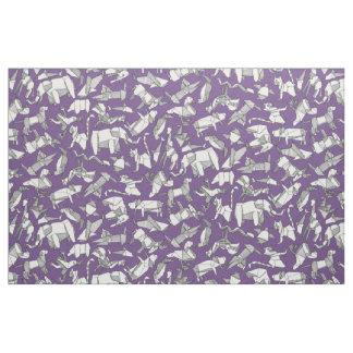 Tela púrpura ditsy animal del origami
