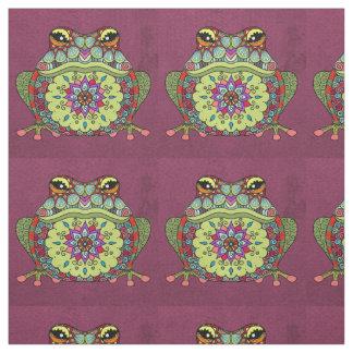 Tela Rana Jewelled en púrpura