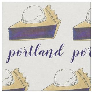 Tela Rebanada de la empanada de la baya de Portland O