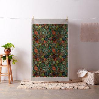 Tela Remiendo del vintage con los elementos florales de