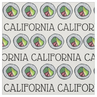 Tela Rollo de sushi japonés de la comida de California