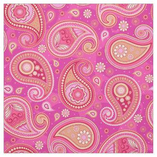 Tela Rosa femenino lindo del modelo de Paisley
