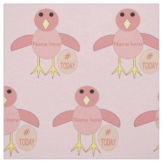Tela rosada de encargo del arte del polluelo del