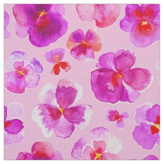 Tela rosada del arte de la flor de la acuarela de
