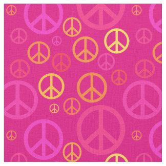 Tela Signos de la paz dispersados SPST rosado
