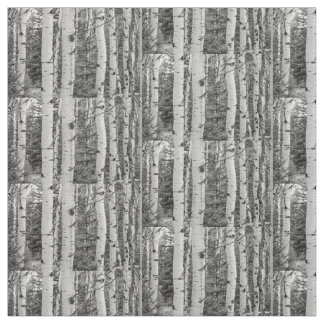 Tela Silver birch Black and White