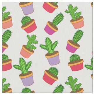 Tela Succulent y cactus lindos del dibujo animado