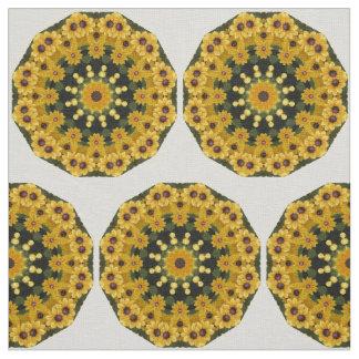 Tela Susans Negro-observado, mandala de la flor