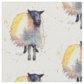 Tela Sustancia con oveja handgemaltem viejo con acuerdo