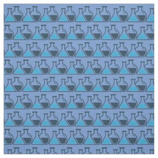 Tela tejada ciencia azul del diseño de la química