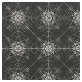Tela Tercera geometría sagrada dimensional (triplicada)