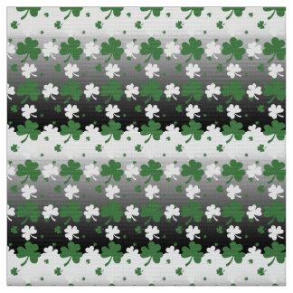 Tela Tréboles, verde y blanco en el campo de Gradated