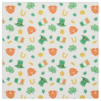 Tela Tréboles y gorras - modelo del día de St Patrick