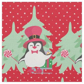 Tela Un pingüino festivo - 1