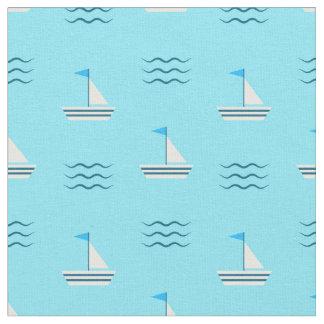 Tela Veleros en el modelo azul del mar