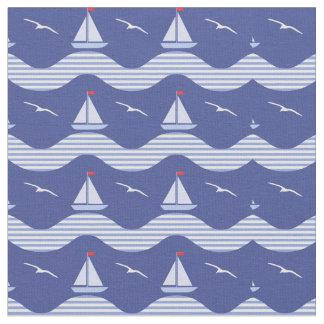 Tela Veleros en un modelo rayado del mar