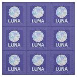 Tela Z Luna friki azul y púrpura de la Luna Llena del
