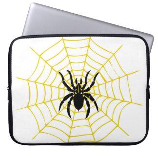 Telaraña de la araña de la manga del ordenador funda para portátil