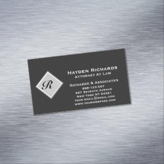 Telas a rayas del negro del abogado del abogado tarjeta de visita magnética