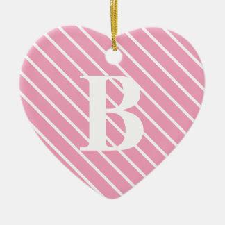 Telas a rayas diagonales - rosa y blanco de la