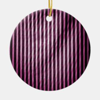 Telas a rayas verticales flacas del rosa y del adorno redondo de cerámica