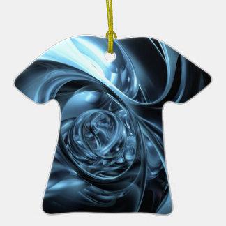 telas azules ornamento de reyes magos