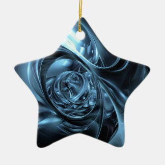 telas azules ornamento de navidad