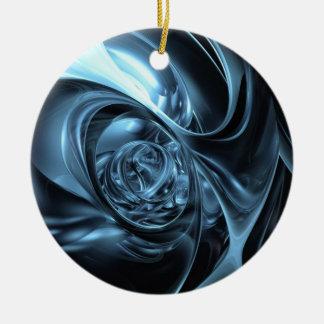 telas azules ornamentos de navidad