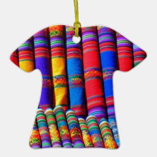 Telas coloridas intrépidas ornamento para reyes magos