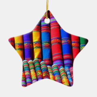 Telas coloridas intrépidas adornos de navidad