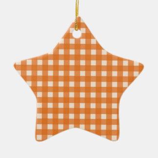 telas escocesas anaranjadas del país del color adorno de reyes
