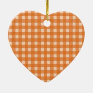 telas escocesas anaranjadas del país del color ornaments para arbol de navidad