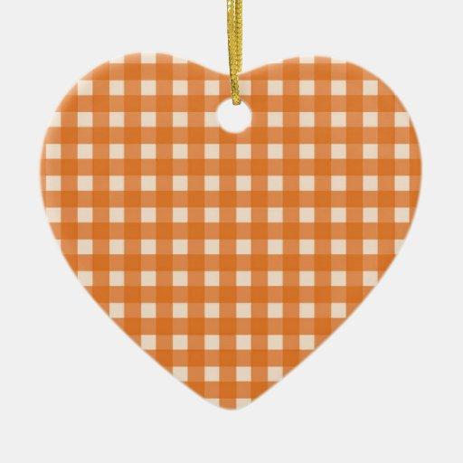 telas escocesas anaranjadas del país del color ornamento de navidad