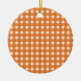 telas escocesas anaranjadas del país del color ornamentos de reyes