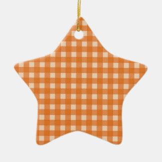 telas escocesas anaranjadas del país del color adorno de cerámica en forma de estrella