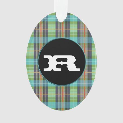 Telas escocesas verdes de Organge de la turquesa