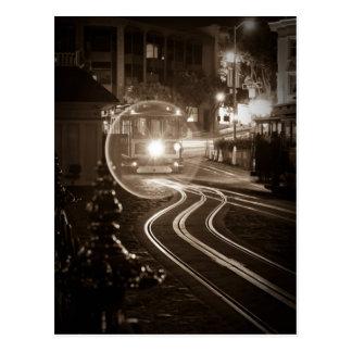 Teleférico de San Francisco en la noche Postal