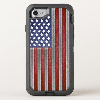 teléfono celular de la bandera americana del funda OtterBox defender para iPhone 8/7
