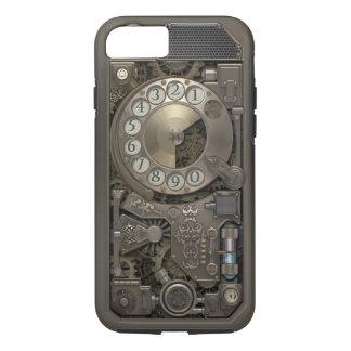 Teléfono de dial rotatorio del metal de Steampunk. Funda Para iPhone 8/7