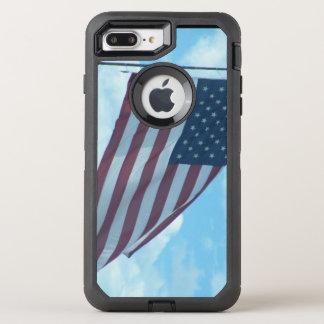 Teléfono de la bandera americana funda OtterBox defender para iPhone 8 plus/7 plus