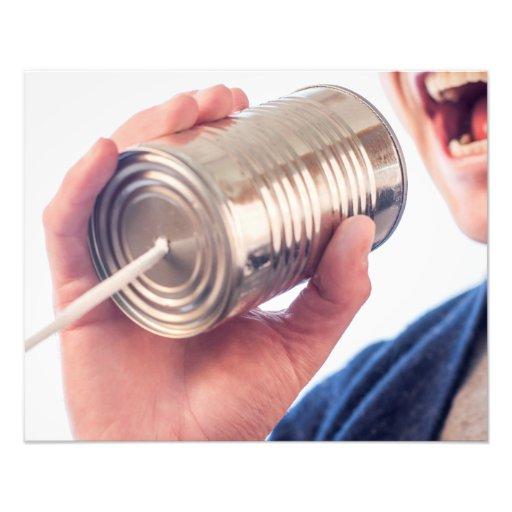 Teléfono de la lata fotos