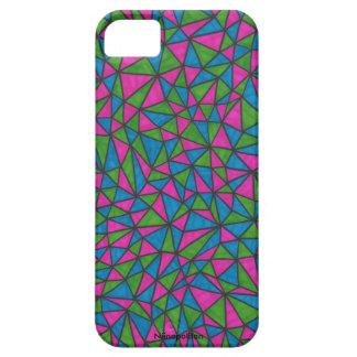 Teléfono de los triángulos de Techno/caja de la iPhone 5 Case-Mate Coberturas