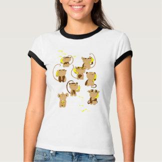 Teléfono del plátano camiseta