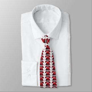 teléfono del rojo del vintage corbata personalizada