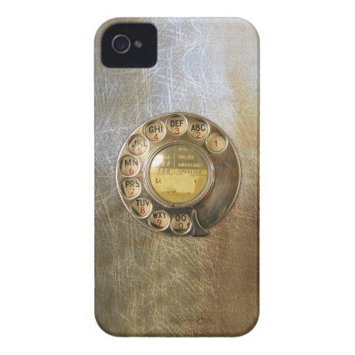 Teléfono del vintage iPhone 4 Case-Mate cárcasa
