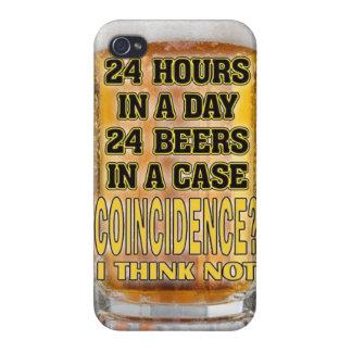 teléfono divertido de la cerveza iPhone 4 protectores