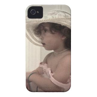 Teléfono hermoso de la niña del vintage iPhone 4 Case-Mate carcasas