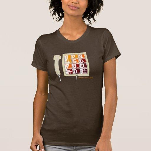 Teléfono retro - Brown T Camisetas